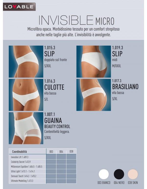 Slip Midi 910193 Lovable Invisible Micro