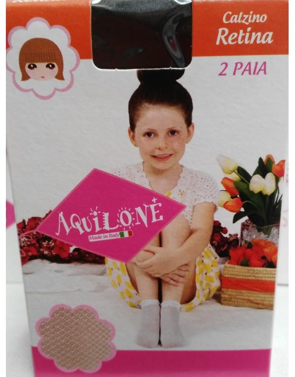 2 PAIA Calzino bambina Retina Aquilone